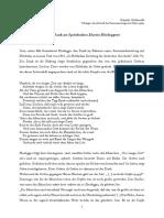 Zu Heidegger und Dank