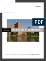 HR Policies of SKMCH&RC - Saad Salman