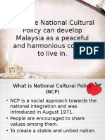 National Cultural Policy