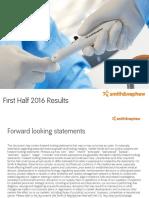 Smith & Nephew SNN h1 2016 Results Presentation