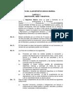 Formato de Estatuto de Club Deportivo Basico Barrial