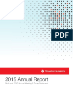 Texas Instruments 2015 Annual Report