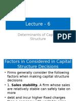 Lecture6-DeterminantsofCapitalStructure