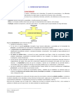 Tema 1. Ciencias, Concepto y Metodo