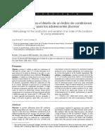 Metodología para el diseño de un índice de condiciones de vida para los adolescentes jóvenes