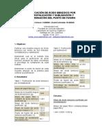 Purificación de Ácido Benzoico Por Recristalización y Sublimación