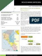 RIO Alto Mining - Kallpa SAB Cobertura Inicial