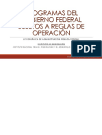 Introducción a programas de fomento sujetos a reglas de operación - México