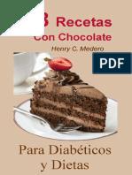 Libro 38 Recetas Postres Con Chocolate Para Diabeticos y Dietas