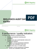 IBD Registry Biologics Audit Data Entry