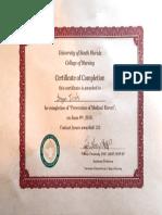 medication errors certificate
