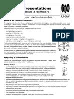 handout oral presentations guidelines usw