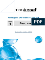 Mastersaf Interface Namespace SAP - Guide 1 - Read Me