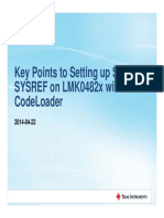 Key Points to Setting Up SYSREF on LMK0482x