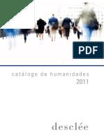 Editorial Desclee - Catálogo Humanidades 2011