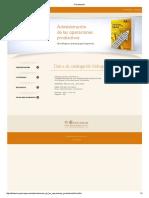 Administración de las operaciones productivas - Fernando D' Alessio Ipinza