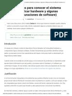 Comandos Para Conocer El Sistema (Identificar Hardware y Algunas Configuraciones de Software) _ Desde Linux