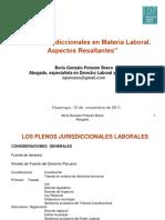 Plenos Juridiccionales Laboral Procesal