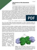 Hydrogenase mechanism