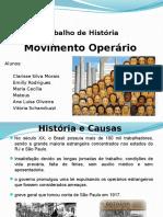 Movimento Operário - Trabalho de História.pptx