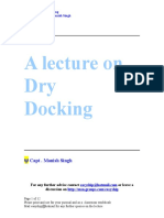 A Lecture on Dry Docking