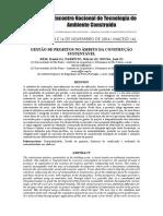 GESTÃO DE PROJETOS NO ÂMBITO DA CONSTRUÇÃO SUSTENTÁVEL