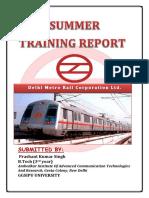 102518252 Summrr Training Dmrc Report