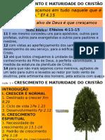 1 L1 - Cresc e Maturidade Do Cristao