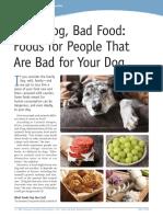 Good Dog, Bad Food