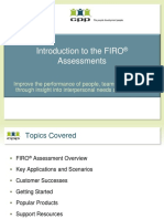 Intro to FIRO Assessments