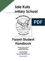 hale kula elementary parent handbook 15-16