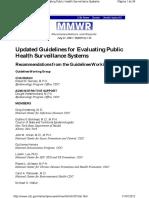 Cdc Guidelines Surveillance Evaluation