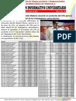Boletín Informativo Universitario 46 (Nueva Tabla Salarial)