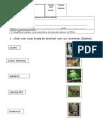 Ciencias Naturales N°5 (Animales tipicos de chile)