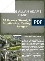 Joseph Allan Adams Case Presentation