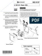 Paseo Tercel Stereo Installation Instruction