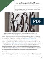 4 Trillion Debt Binge Could Spark New Global Crisis IMF Warns