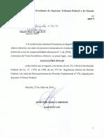 Alegações Finais da Defesa de Dilma Rousseff no processo de impeachment