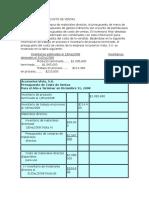 El Presupuesto de Costo de Ventas Ejemplo (1)