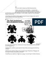 Report From Week 30, In Which You Were Asked to Interpret Any of Four Rorschach Ink Blots.
