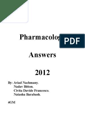Pharma Final Answers 2012 3 dhudah   Acetylcholine