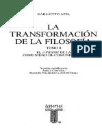 Apel, Karl-Otto - La Transformación de La Filosofia. Tomo II
