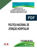 Política Nacional de Atenção Hospitalar - Ana Paula Silva Cavalcante
