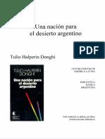 HALPERÍN DONGHI. Una Nación para el Desierto Argentino.
