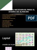 Elementos Necesarios Para El Diseño de Almacén