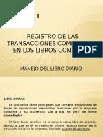 CLASE N° 1 MANEJO DEL LIBRO DIARIO