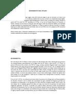 Hundimiento Del TITANIC Desde El Punto de Vista de La Ing. de Materiales