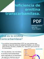 Deficiencia de Ornitina Transcarbamilasa