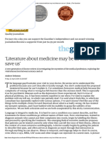 'Literature about medicine may be all that can save us' _ Books _ The Guardian.pdf