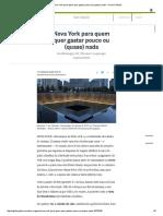 Nova York para quem quer gastar pouco ou (quase) nada - Jornal O Globo.pdf